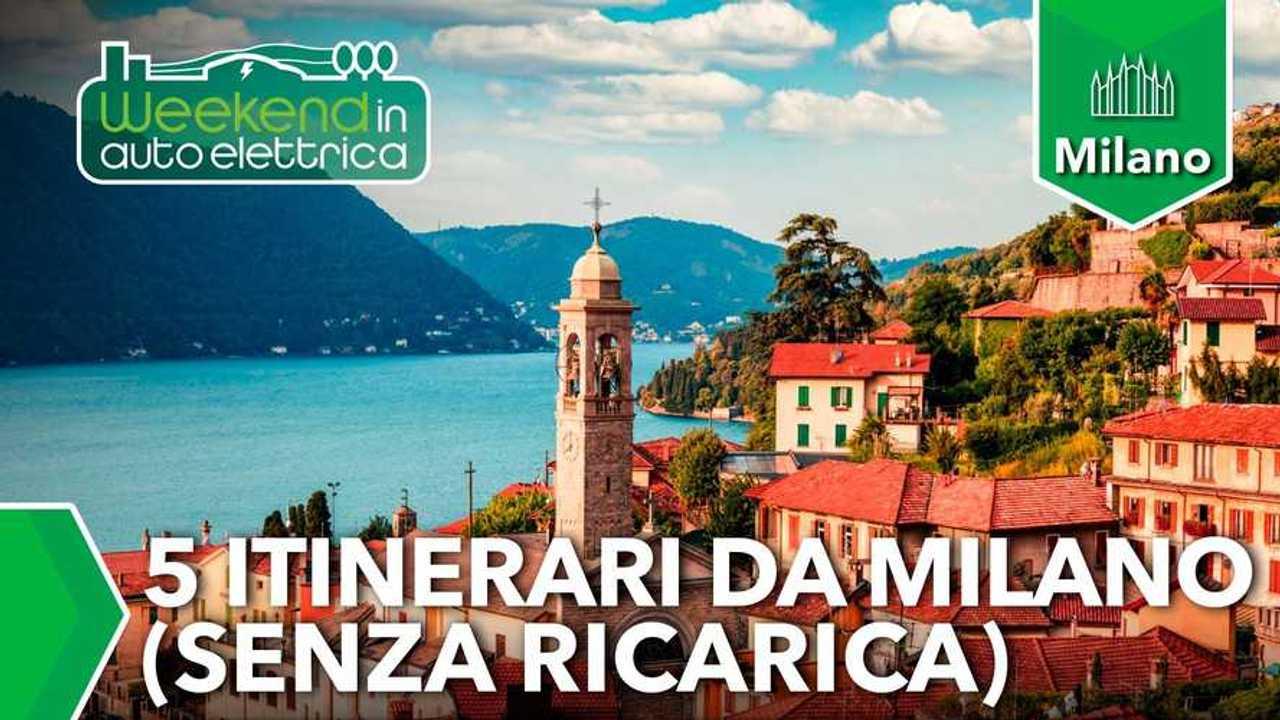 5 tragitti da Milano da fare in auto elettrica in giornata