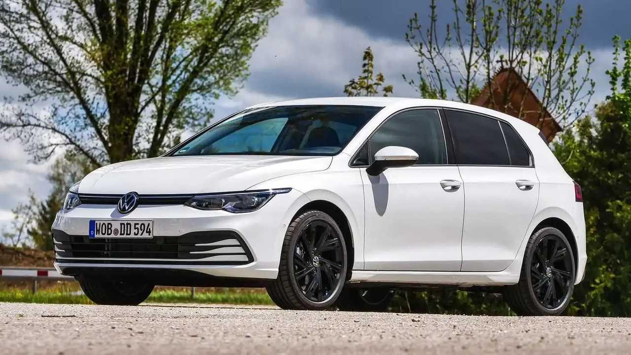 VW Golf TGI in der Dreiviertelansicht
