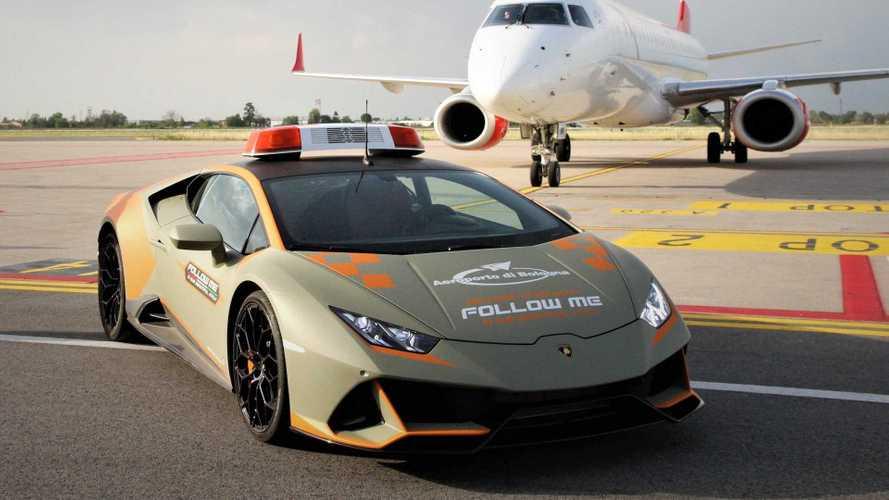 Lamborghini Huracán Evo wird Follow-Me-Car am Flughafen Bologna