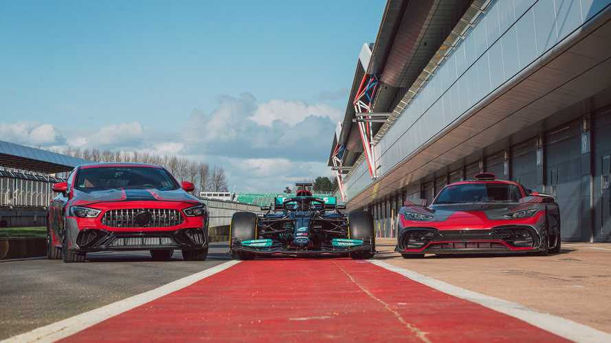 AMG GT73e spotted alongside Project One hypercar and 2021 F1 race car