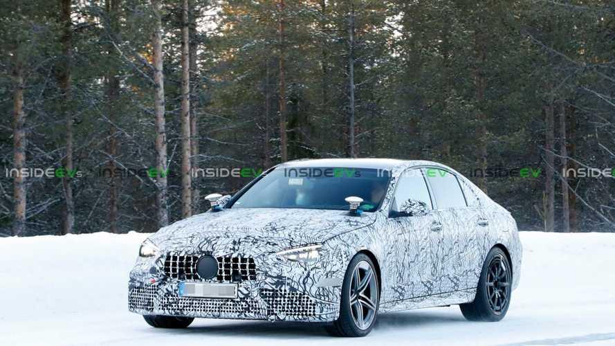 2022 Mercedes-AMG C63e Spied