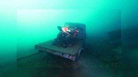 Diver Discovers Moto Treasures In Italy's Lake Como