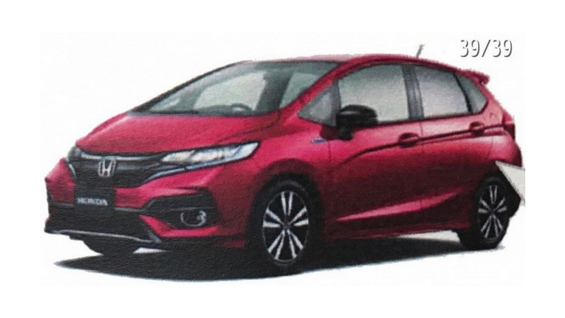 2018 Honda Fit Jazz Facelift Leaks Out In Brochure Images