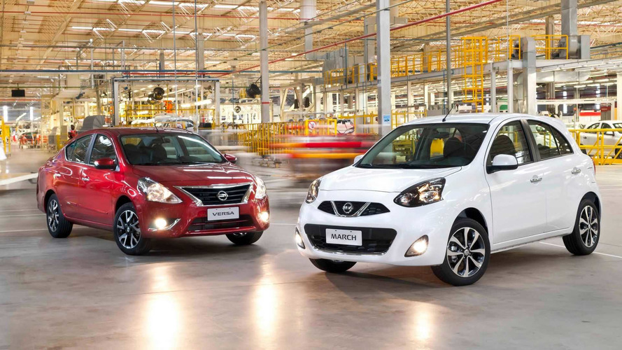 Nissan lança March e Versa 2019 com nova central multimídia