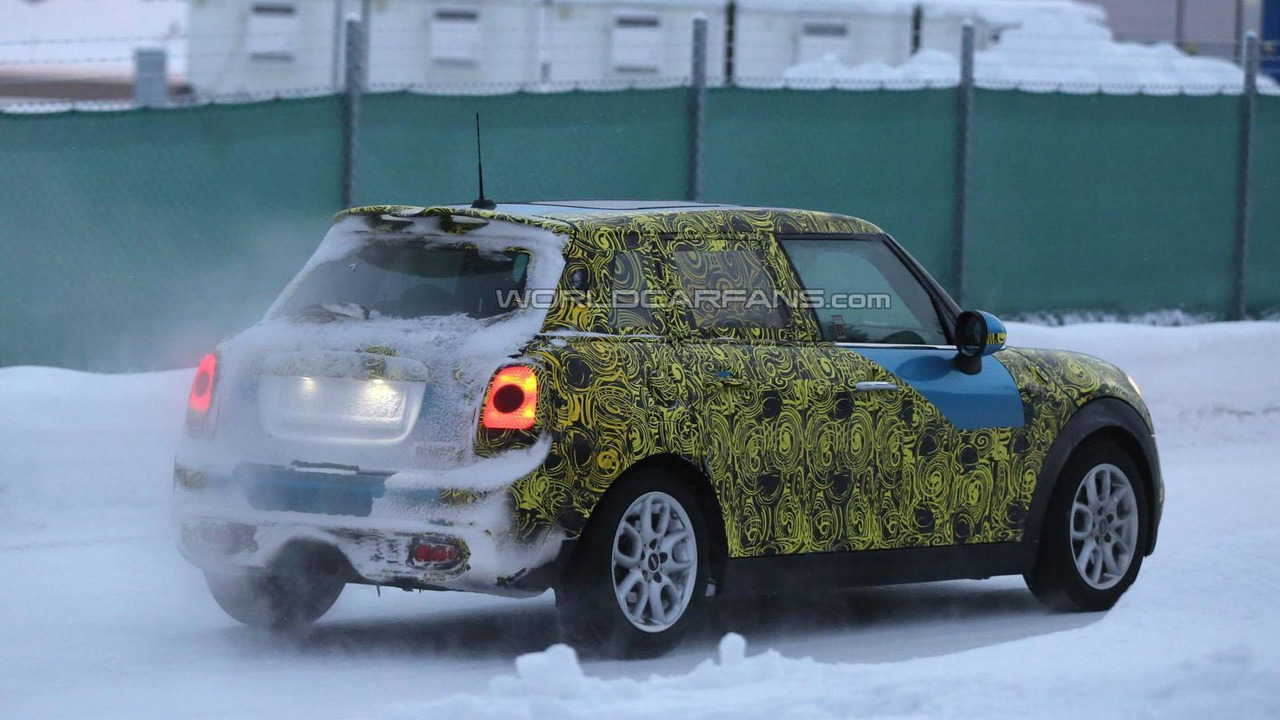 MINI Cooper five-door spy photo