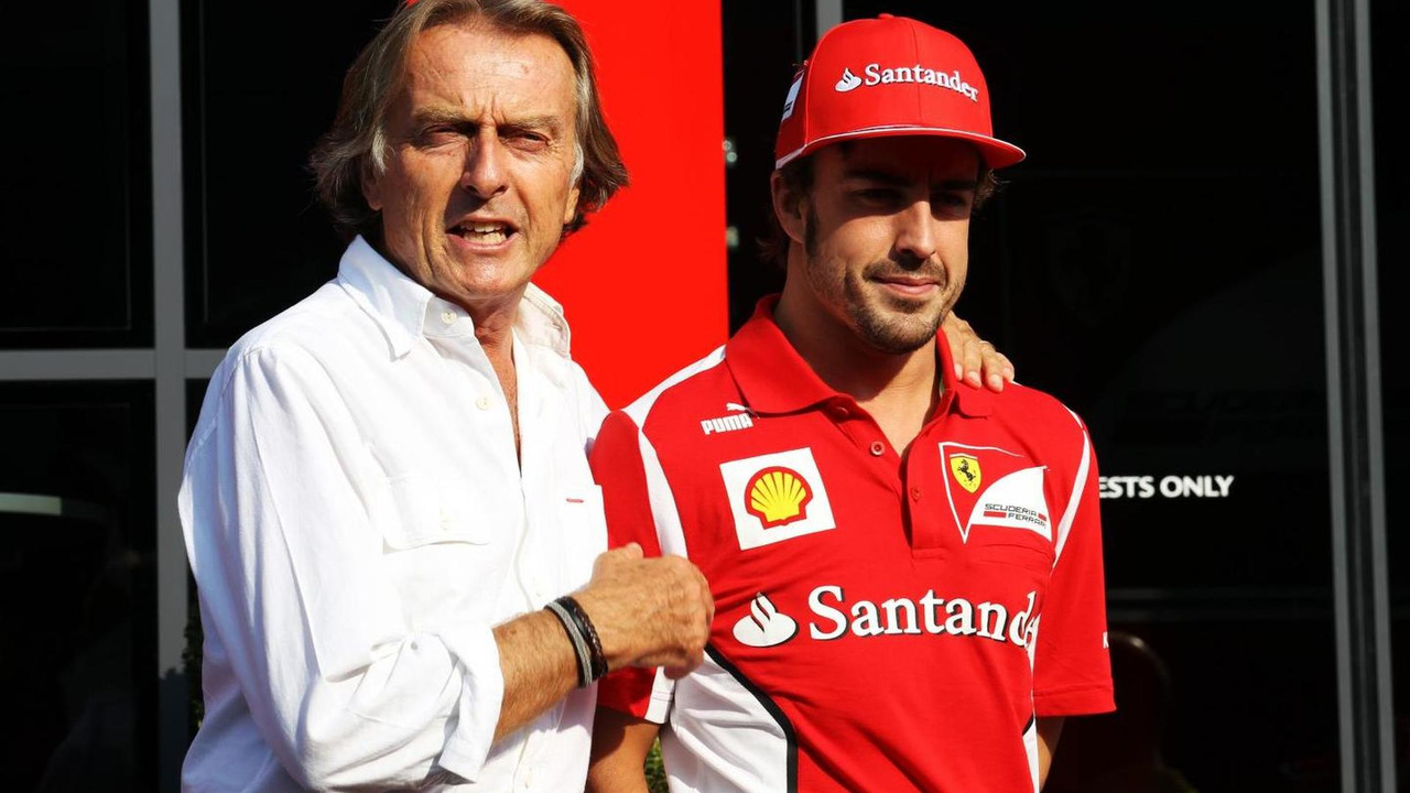 Luca di Montezemolo with Fernando Alonso 08.09.2012 Italian Grand Prix