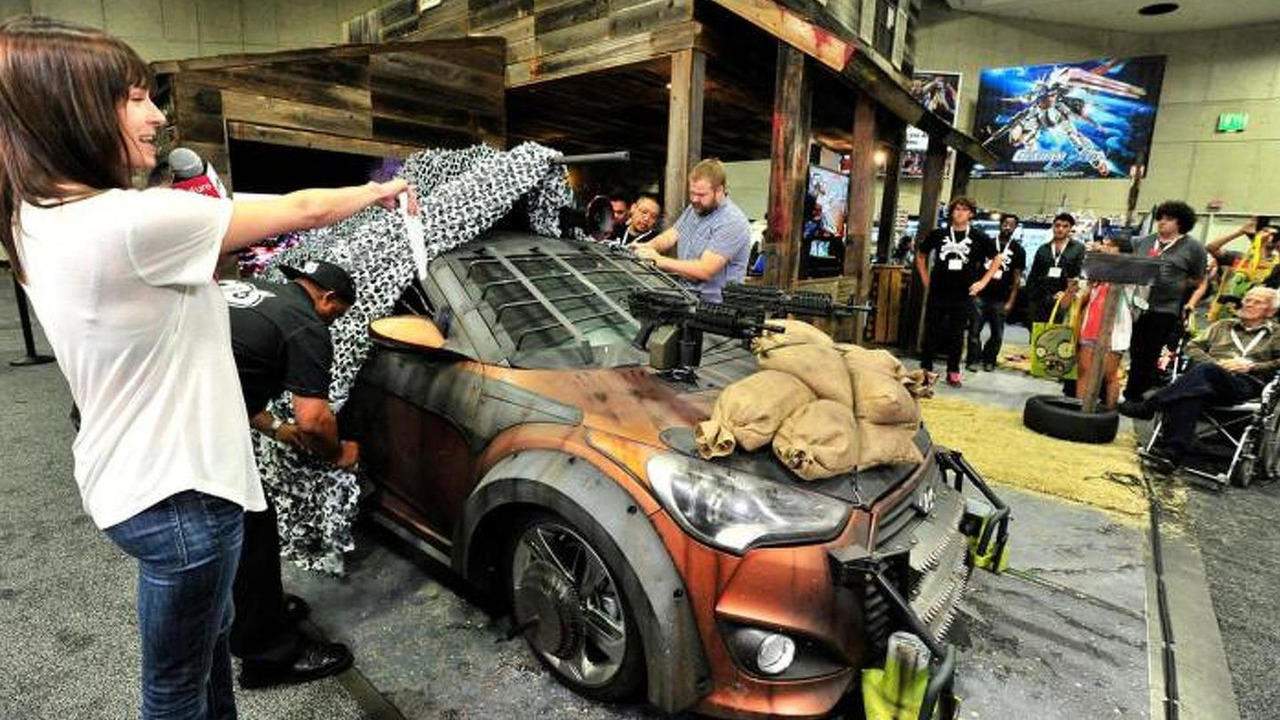 Hyundai Veloster Zombie Survival Machine At San Diego Comic Con