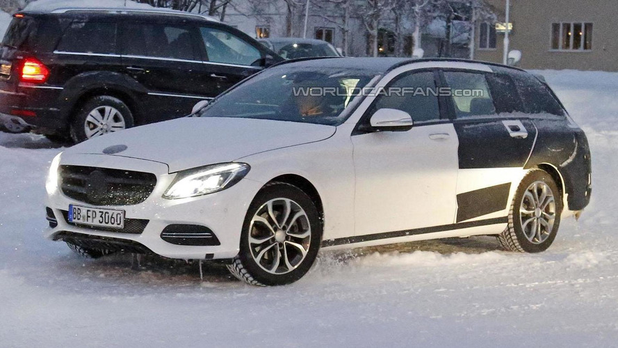 2015 Mercedes C-Class Estate spied in Scandinavia