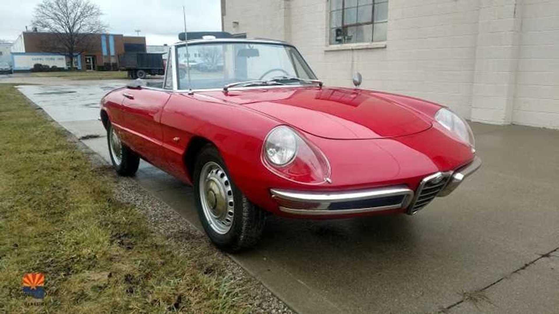 """[""""Remarkable Red 1967 Alfa Romeo Spider Duetto 600 Resto""""]"""