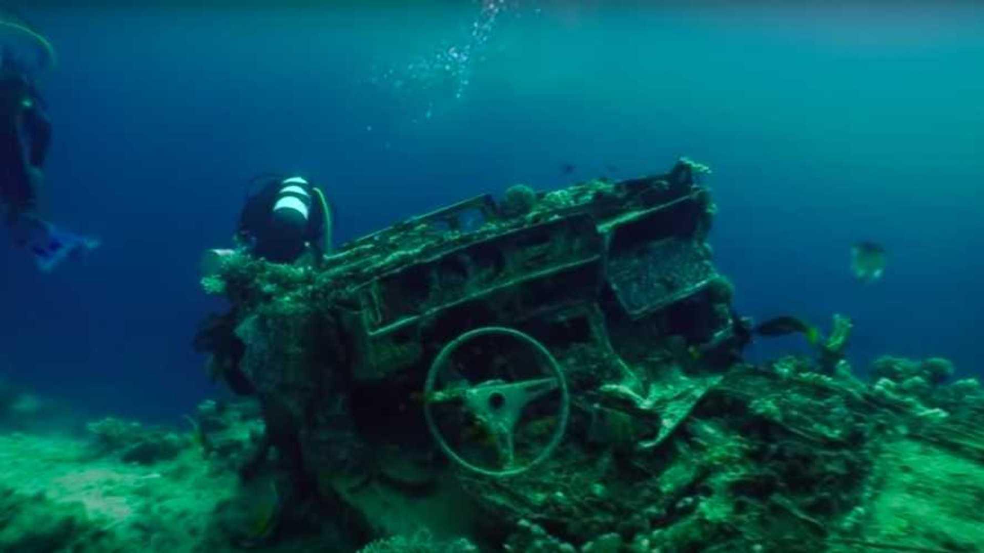 """[""""Underwater Toyota Graveyard""""]"""