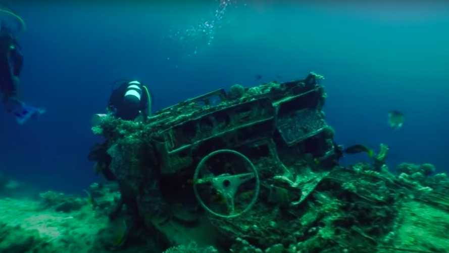 This Shipwreck Has Been Hiding A Toyota Graveyard For 42 Years