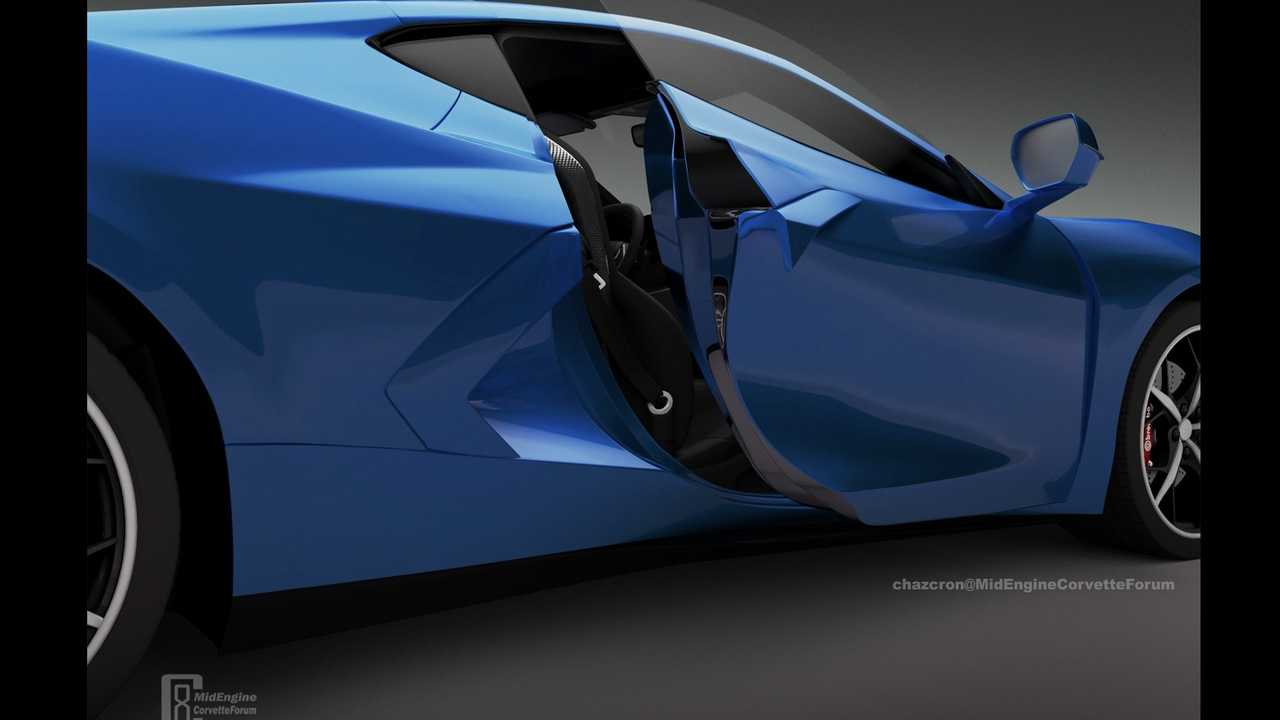 New C8 Corvette Door Rendering Seeks To Reveal The Car Early