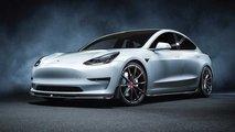 Vorsteiner Tesla Model 3 ist böse und grün zugleich