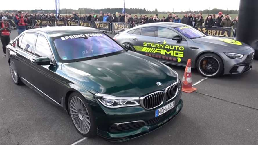 Alpina B7 duels Mercedes-AMG GT 63 S in drag race