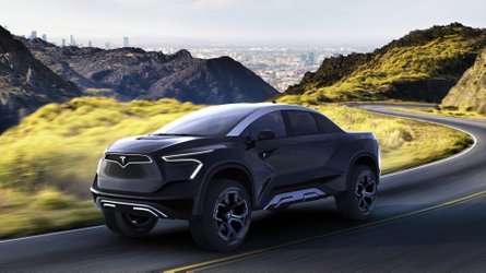 Tesla Model P Pickup Truck Rendered To Life