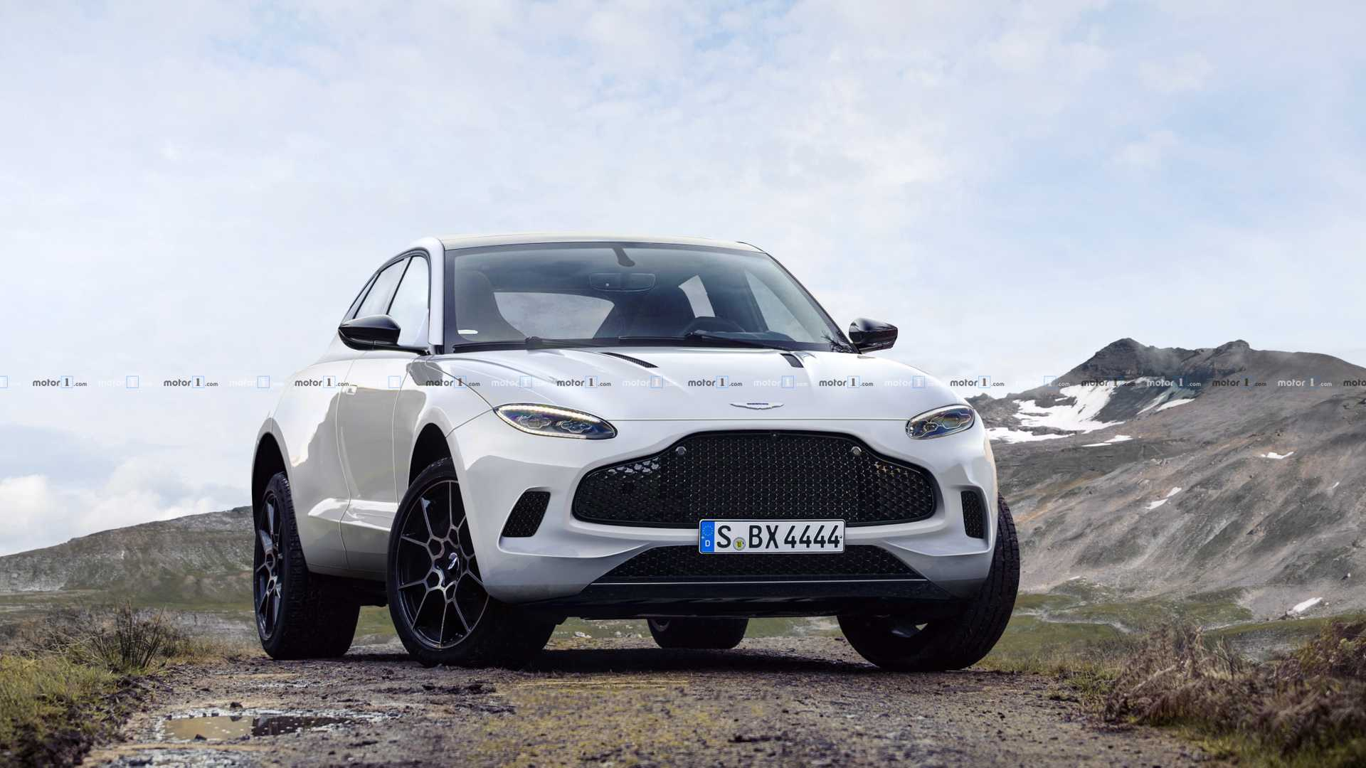 Aston Martin Dbx Rendered Without Camouflage