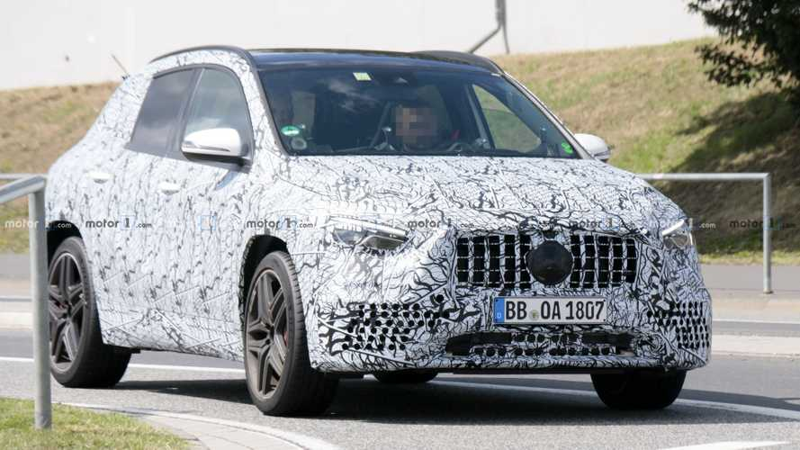 2021 Mercedes-AMG GLA 45 spy photos