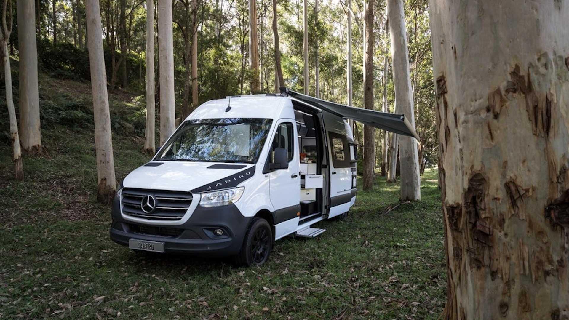 Trakka Jabiru Sprinter Camper Van Features A Swivel-Out Fridge