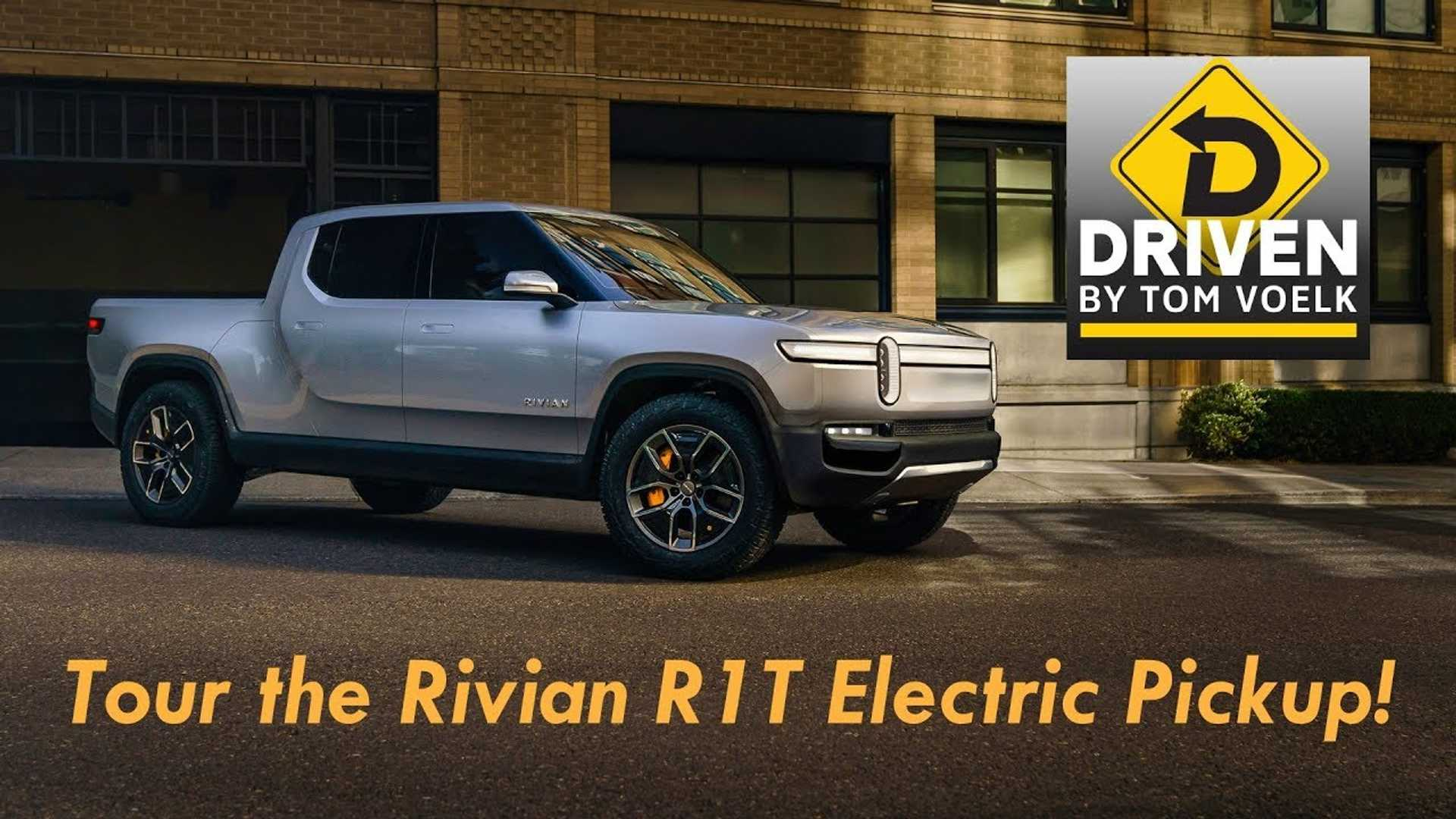 Watch This New Rivian R1T Pickup Truck Walkaround & Interview Video