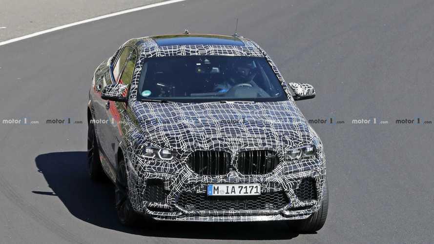 Le BMW X6 M en séance d'entrainement en Allemagne