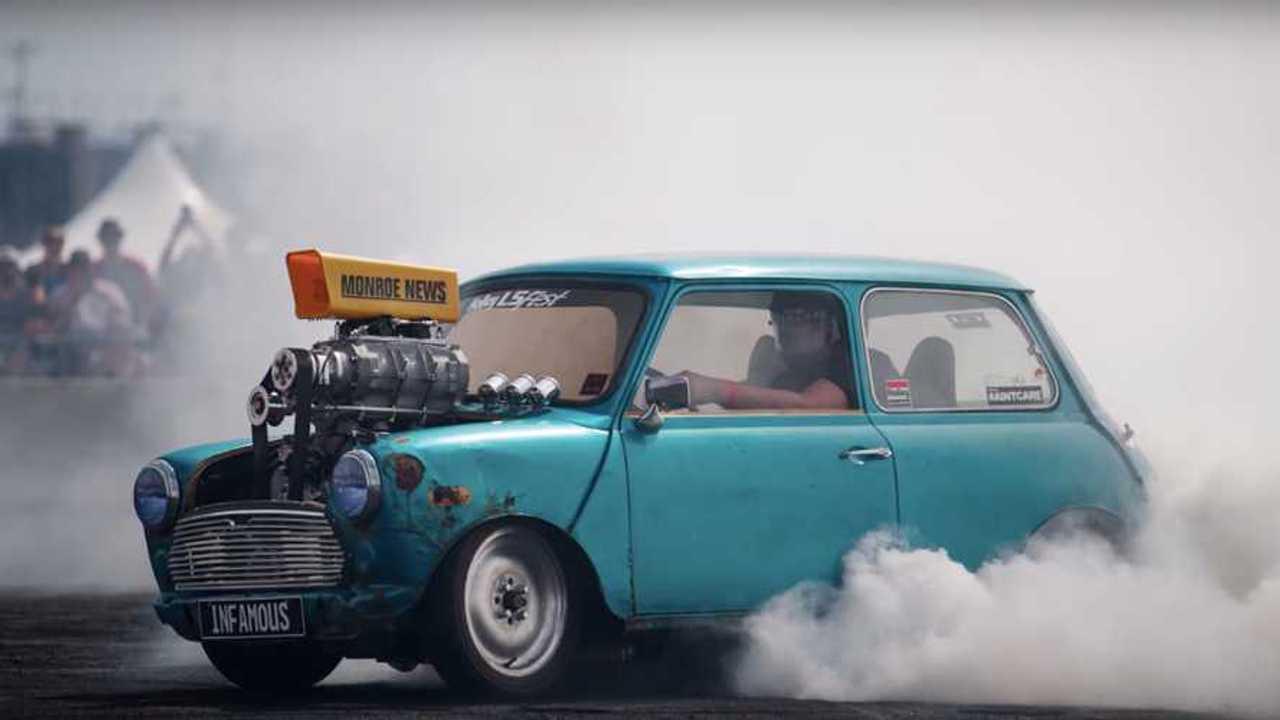 Mini Cooper Burnout Machine