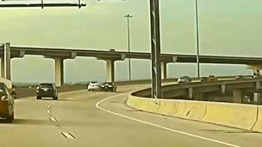Tesla Model 3 Dashcam Captures Camaro Driver Smashing Into A Tesla