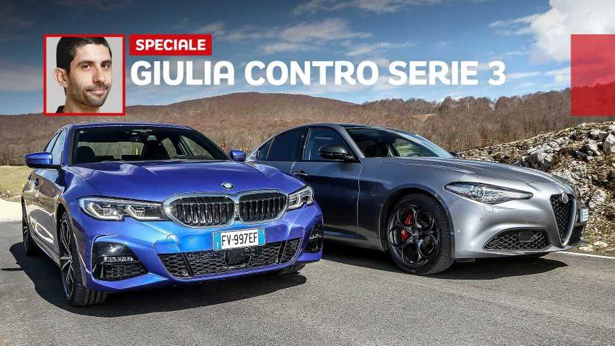 L'Alfa Giulia e l'inevitabile duello con la BMW Serie 3