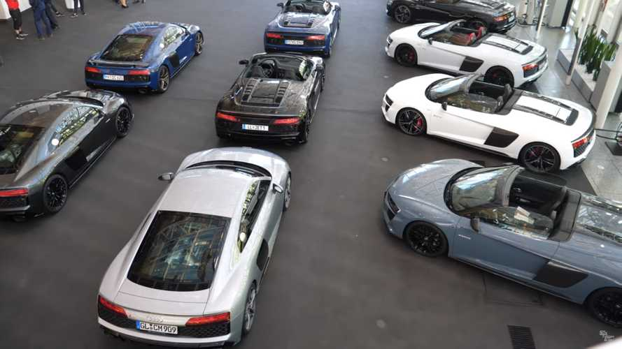 38 Audi R8s delivered at Audi HQ in Ingolstadt