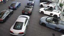 38 Audi R8s delivered at Audi HQ in Ingolstadt