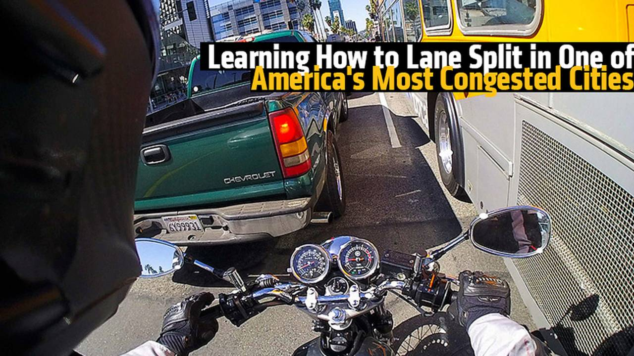 Learning How to Lane Split in One of America's Most Congested Cities
