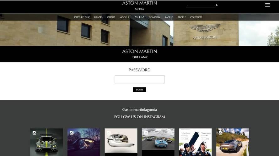 Aston Martin DB11 AMR website screenshot