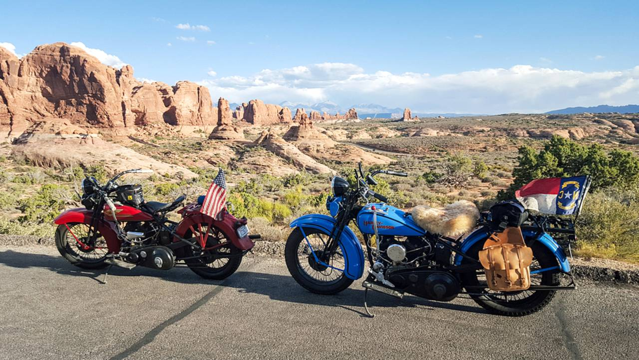 The park is loaded with scenic overlooks that look even better with a couple of motorcycles in the frame.