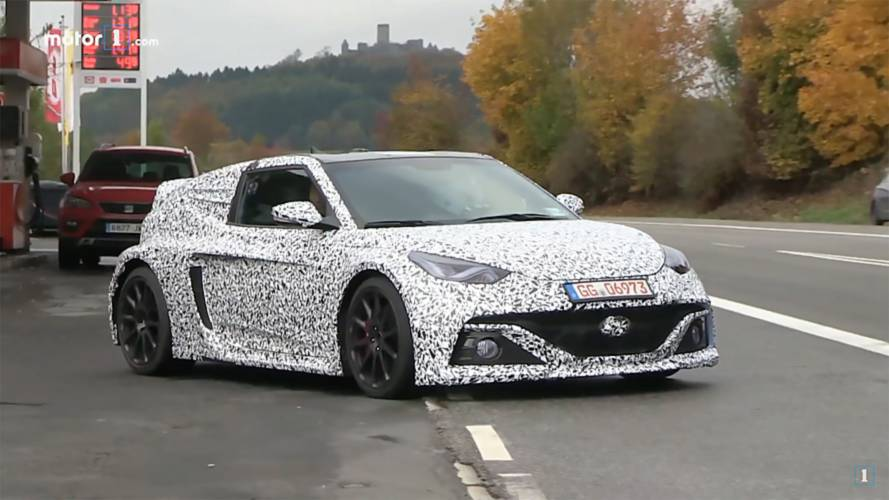 Hyundai's Mid-Engined Hatch Is Spied Again