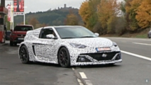 mid engined hyundai spied testing