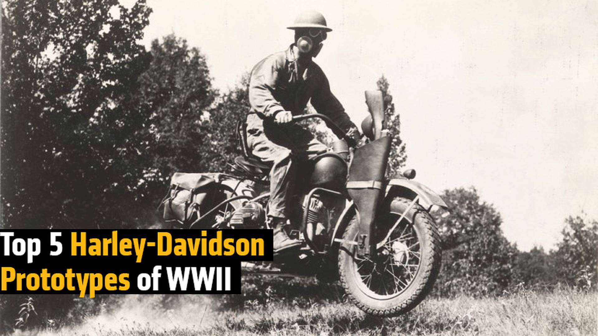 Top 5 Harley-Davidson Prototypes of WWII