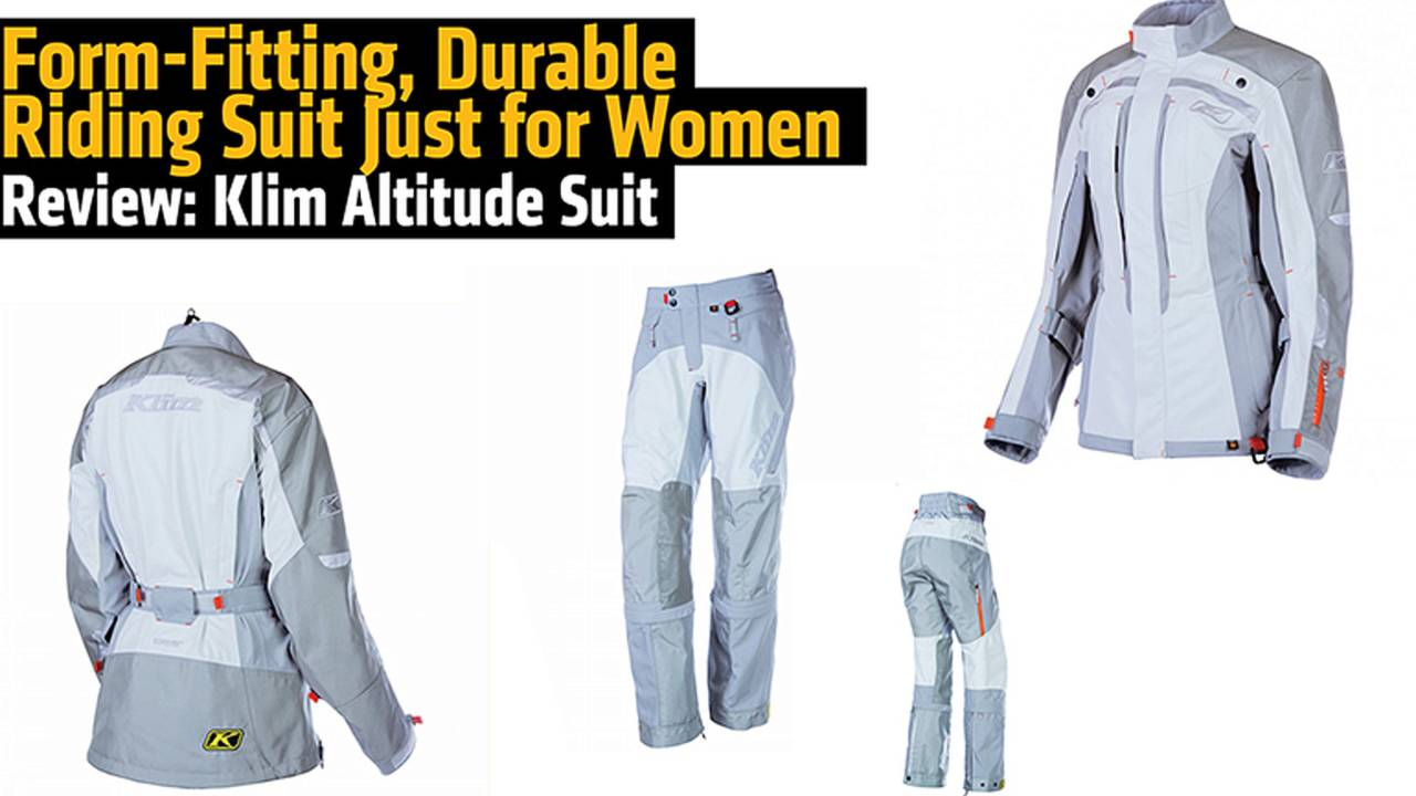 Form-Fitting, Durable Riding Suit Just for Women - Review: Klim Altitude Suit