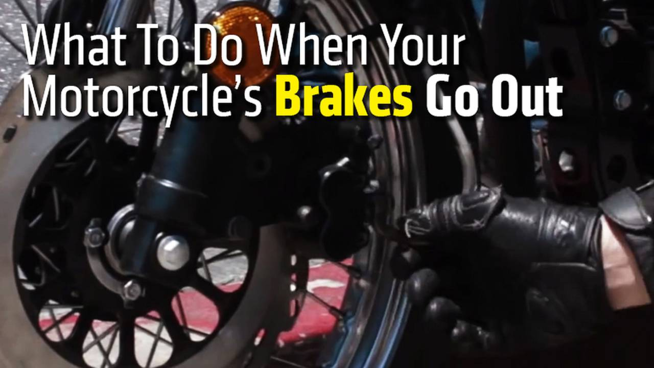 What To Do When Your Motorcycle's Brakes Go Out