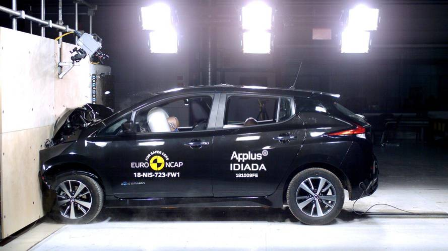 Nissan Leaf Euro NCAP crash test foto