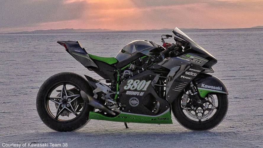 Kawasaki Team 38 H2R at Bonneville