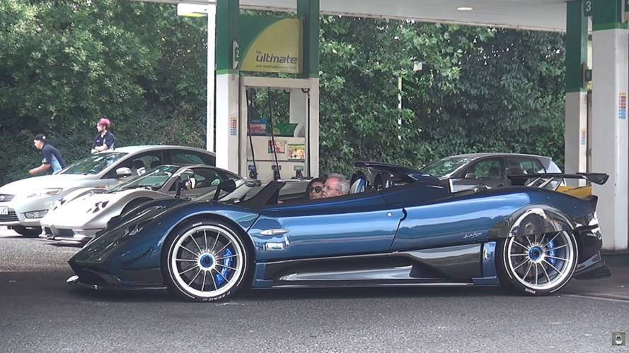 Pagani convoy turns heads in London
