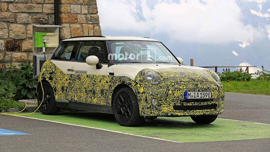 Electric Mini Test Mule Spied Charging Up, Shows Off Its Cabin