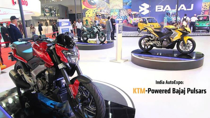 India Auto Expo: KTM-Powered Pulsars By Bajaj Auto