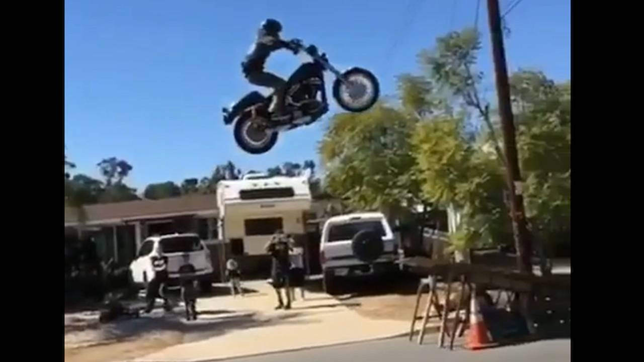 Video of the Day: Guy Jumps Harley FXR, Fails, But Still Epic