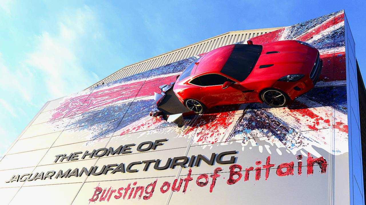 Jaguar Bursting out of Britain