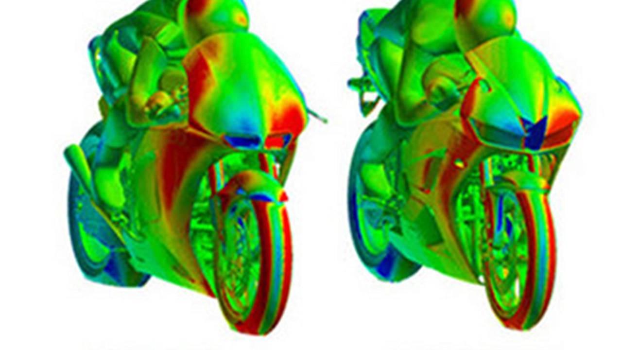 How the new CBR600RRs aerodynamics compare to a MotoGP bike