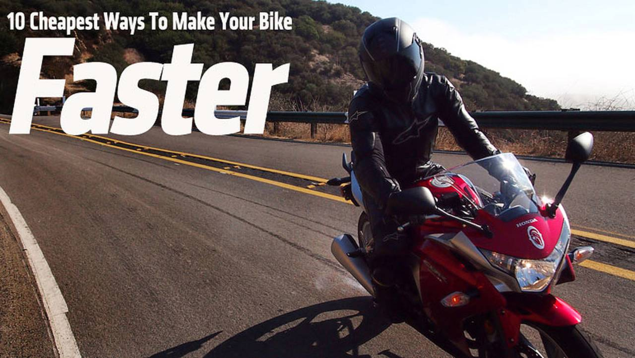 Ask RideApart: 10 Cheapest Ways to Make Your Bike Faster