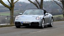 2020 Porsche 911 Convertible spy photos