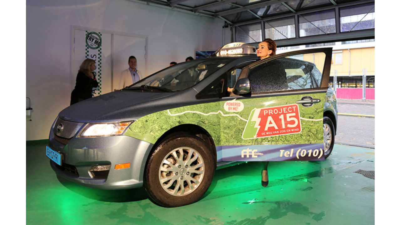 Rotterdam Taxi Centre Chooses BYD e6 For Its New Electric Taxi Fleet