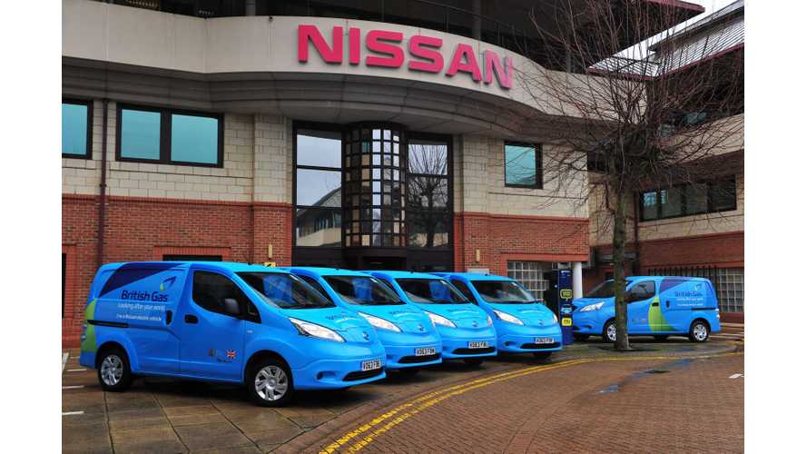 British Gas Orders 100 Nissan e-NV200