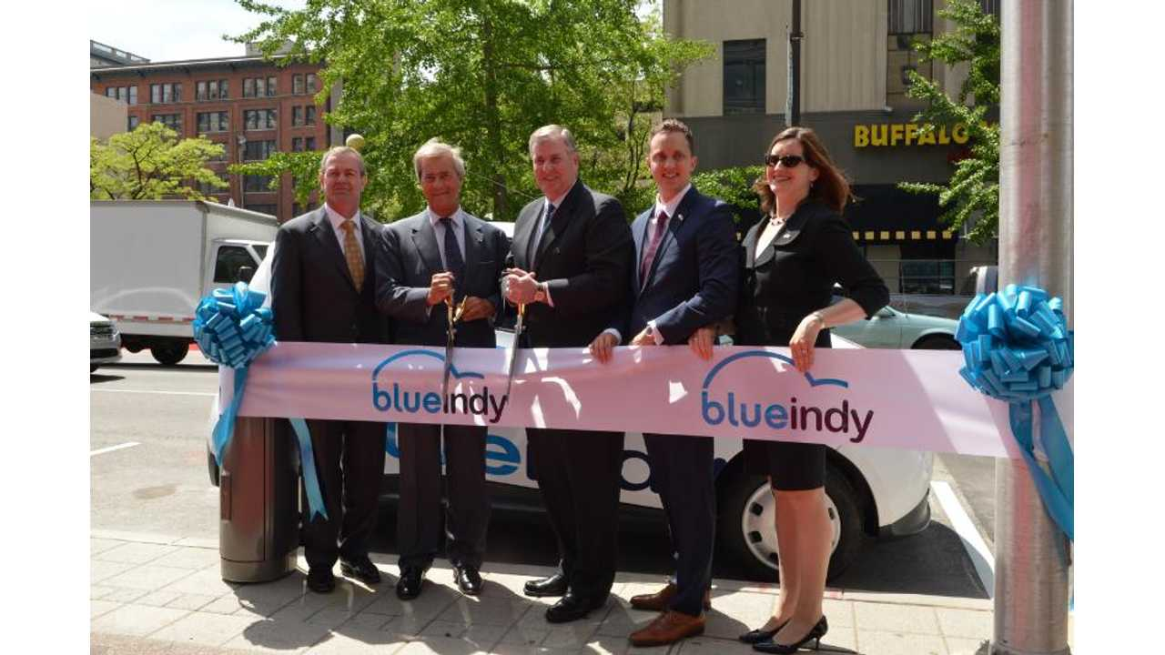 Electric Blue Indy Fleet Begins To Arrive In Indianapolis